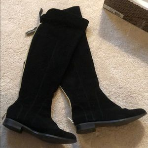 Above the knee, black suede Charles David Boots